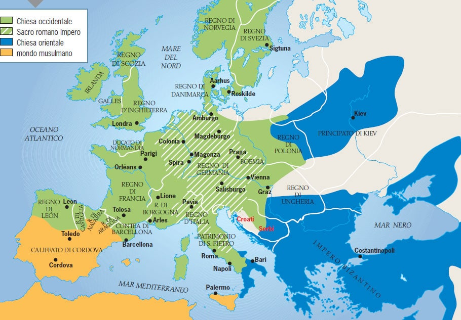 Cartina Italia Nel 400.Storia Medievale Appunti Di Storia